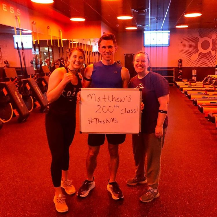 Today was my 200th class at OrangeTheory Fitness. I started 16 months ago to supplement my running & personal trainer. It has forced me to run faster than I usually like. (AO – 11.5+) #ThisIsMS