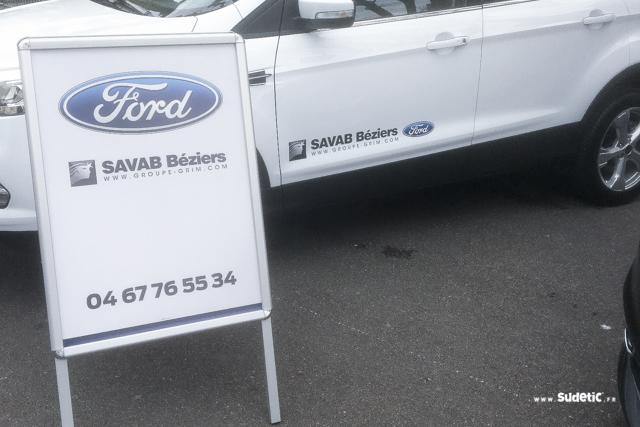 Chevalet et adhésifs Ford SAVAB par SUDETIC