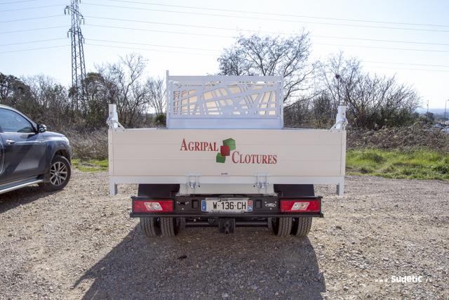 Décoration camion plateau Agripal Clotures par SUDETIC