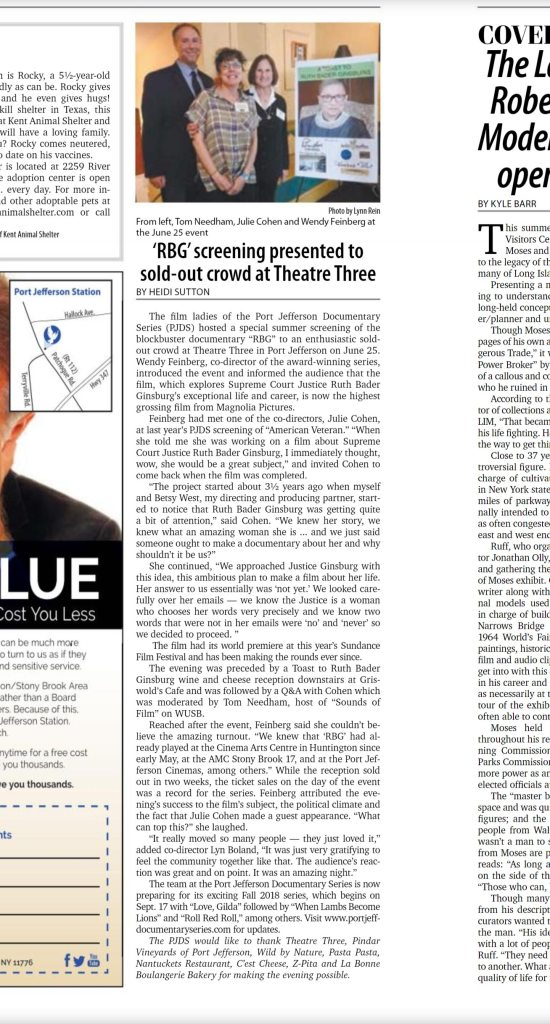 pjds press for rbg screening in july 2018 article written by arts and lifestyles