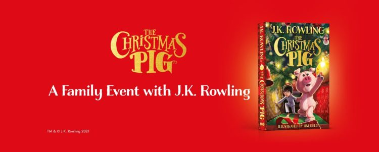 Il Maialino di Natale, evento di lancio con J. K. Rowling