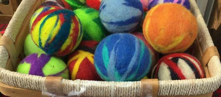 SuDan Farm Felted Wool Balls