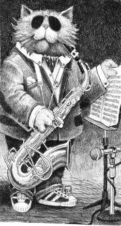 Jazz Cat - full length