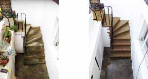 Yorkstone Basement Steps… Before & After!