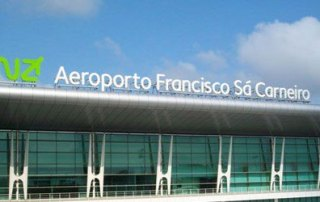 Porto Airport outside sign