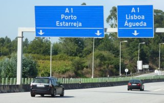 A1 motorway Porto Lisbon
