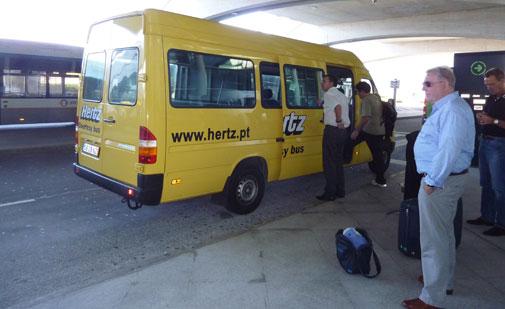 Shuttle Bus in Porto Airport