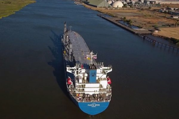 Pacific Spike arrives at Port of Stockton