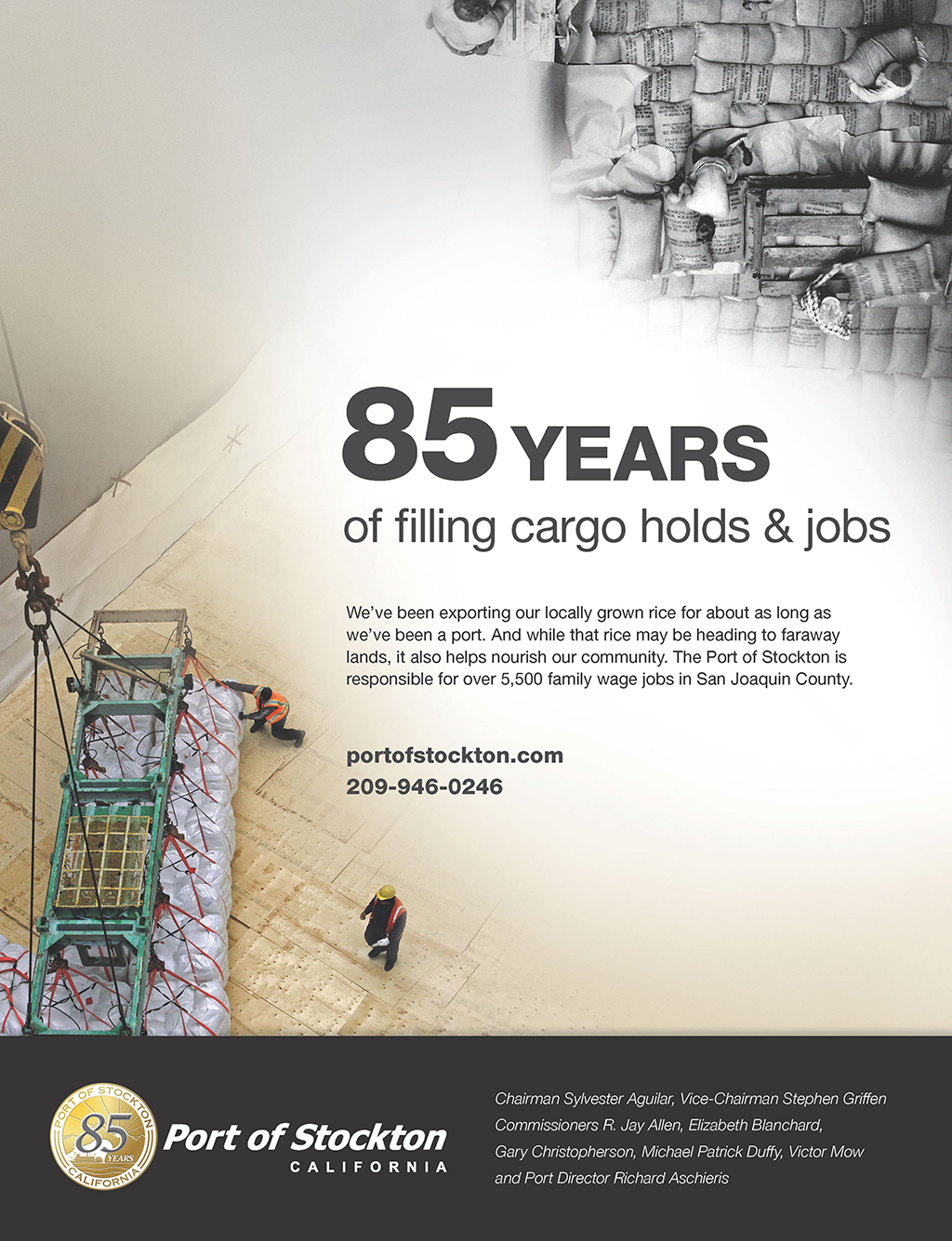 85 Years of Filling Cargo Holds & Jobs