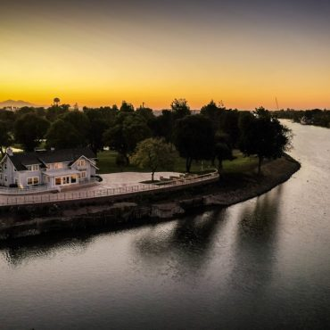 Sunset over the Port of Stockton