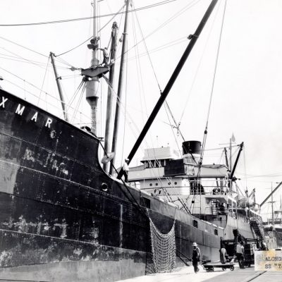 A ship in port 1930s