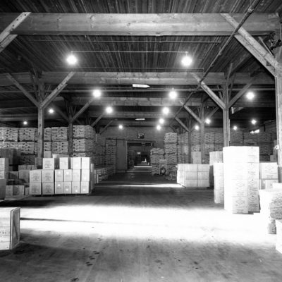 Brick warehouse storage area