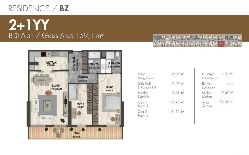 صور مخطط مجمع باباجان بريميوم BABACAN PREMIUM ، بيليك دوزو ، اسطنبول | بورتوكوزا العقارية
