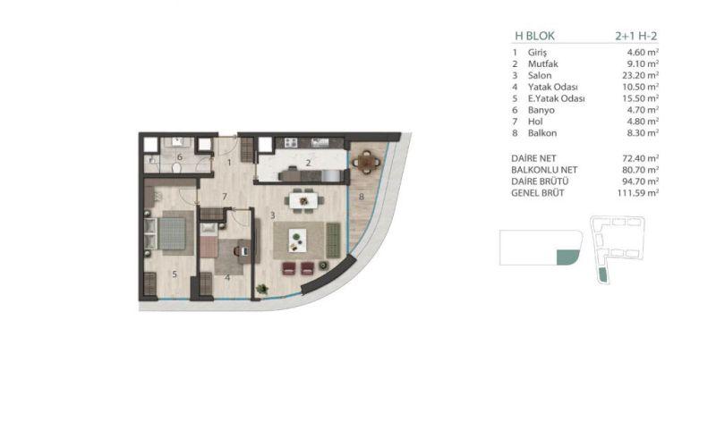 صور مخطط  مارينا 24 (Marina 24) ، بيوك جكمجة ، اسطنبول | بورتوكوزا العقارية