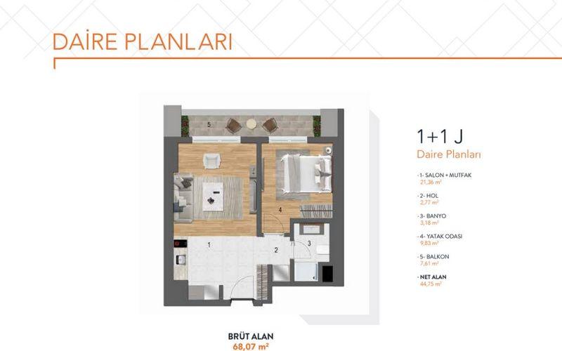 صور مخطط  ماكيول سنترال (MAKYOL SANTRAL) ، إسنيورت ، حي سنايي ، اسطنبول | بورتوكوزا العقارية
