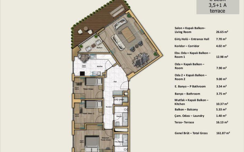 صور مخطط  بابا جان بورت رويال (Babacan Port Royal) ، كوتشوك شكمجة ، اسطنبول | بورتوكوزا العقارية