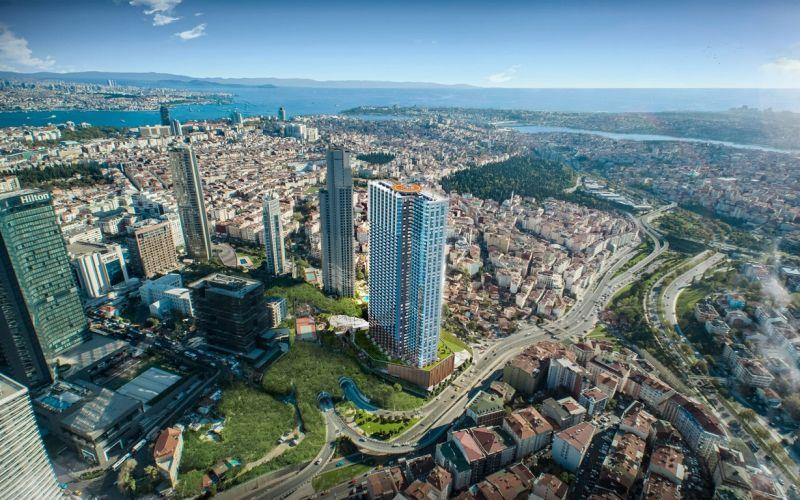 صور  كوين بومونتي (Sinpaş Queen Bomonti) ، شيشلي ، اسطنبول | بورتوكوزا العقارية