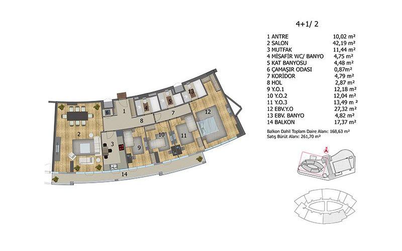صور مخطط  مول أوف اسطنبول هاي ريزيدنس (Mall of Istanbul High Residence) ، باشاك شهير ، حي اكتلي ، اسطنبول   بورتوكوزا العقارية