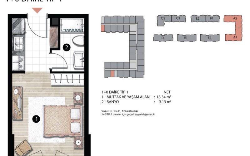 صور مخطط  راديوس ريزيدنس (Radius Residence) ، إسنيورت ، اسطنبول   بورتوكوزا العقارية