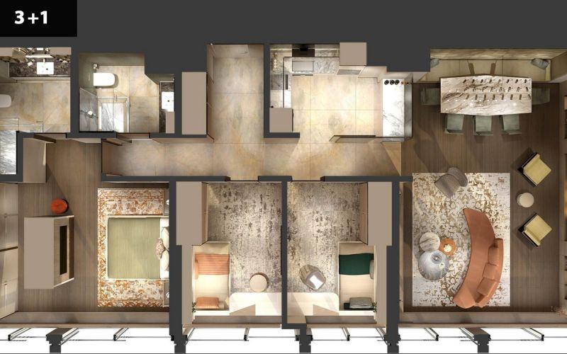 صور مخطط  التاور ريزيدنس (Altower Residance) ، كاديكوي ، حي جوز تبة ، اسطنبول | بورتوكوزا العقارية