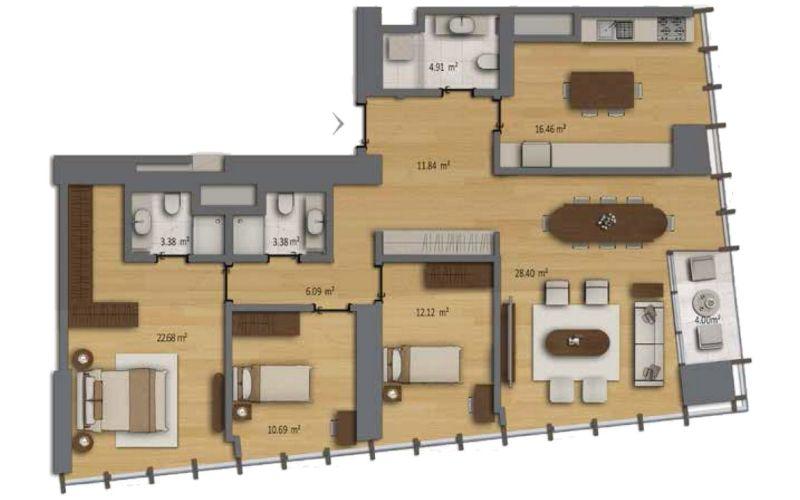 صور مخطط  بومونتي روتانا (Bomonti Residences by Rotana) ، شيشلي ، اسطنبول | بورتوكوزا العقارية