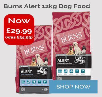 Burns Alert 12kg Dog Food Offer