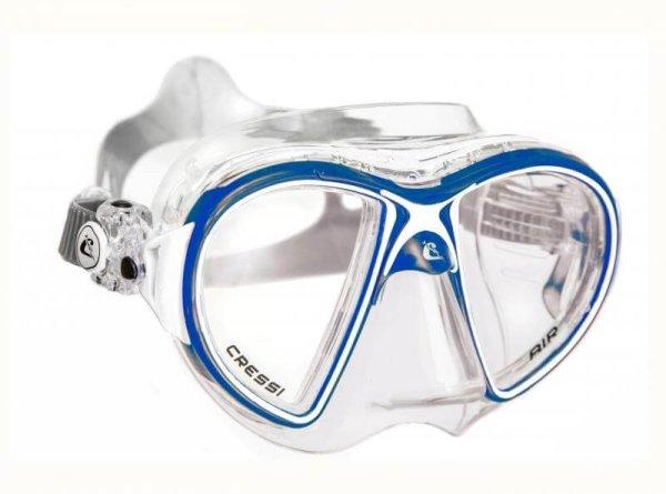 Máscara Cressi AIR Crystal azul blanco