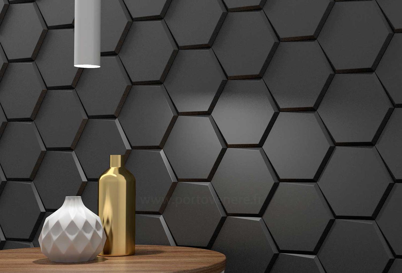 carrelage hexagonal a relief pour