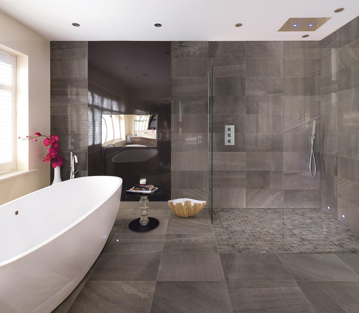 carrelage de salle de bain aspect pierre veinee grise sands composition 1 porto venere