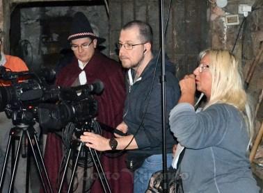 La regista Gallimberti durante le riprese del nuovo film