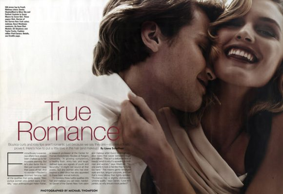 """Ali Stephens photographed by Michael Thompson in """"True Romance"""" for Allure Magazine, February 2010 1"""