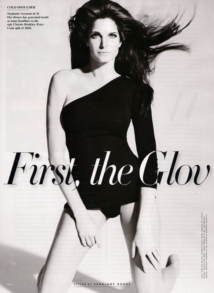 Stephanie Seymour photographed by Mario Testino in 'First, The Gloves Came Off... ' for Vanity Fair, December 2009 1