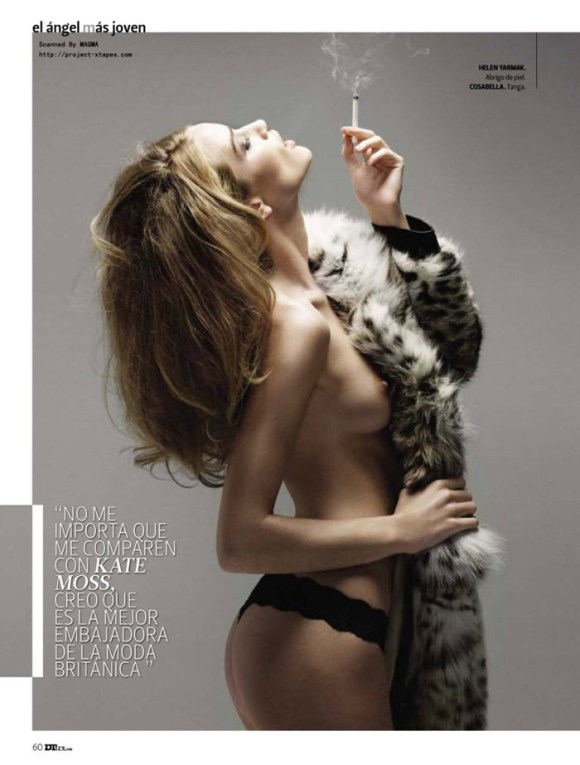 Rosie Huntington-Whiteley photographed by Yu Tsai for DT Spain, January 2010 3