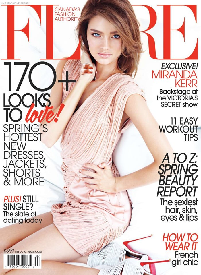 """Miranda Kerr photographed by Max Abadian in """"Heavenly Creature"""" for Flare Magazine, February 2010 1"""