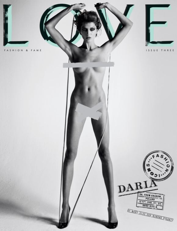 Cover: Daria Werbowy for Love Magazine – Spring & Summer, 2010 1