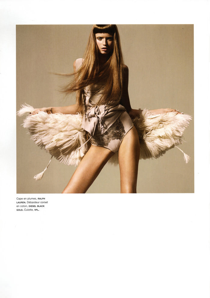 """Abbey Lee Kershaw photographed by Miguel Reveriego in """"Oiseau Rare"""" for Numéro #109 7"""