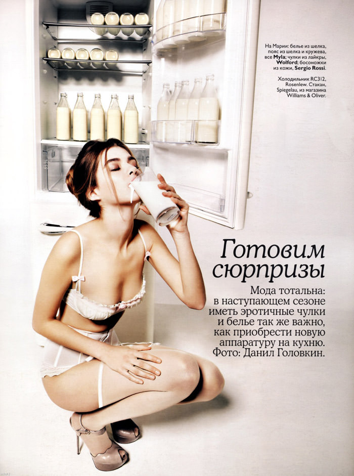 """Maria Timonina photographed by Danil Golovkin in """"We Prepare Surprises"""" for Vogue Russia, January 2010 1"""