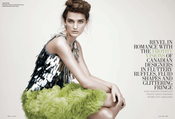 Jeanne Bouchard photographed by Nelson Simoneau for Elle Canada, March 2010 1