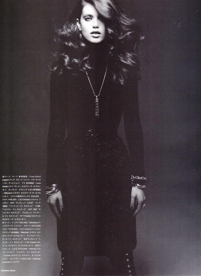 "Emily Didonato photographed by Satoshi Saikusa in ""Dazzling Noir"" for Numéro Tokyo, February 2010 5"