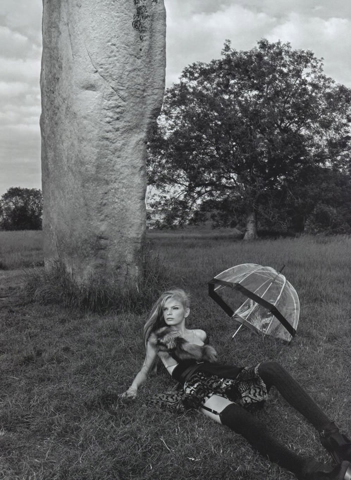 """Mélodie Dagault photographed by Emma Summerton in """"Primitive Echoes"""" for Vogue Nippon, January 2010 1"""