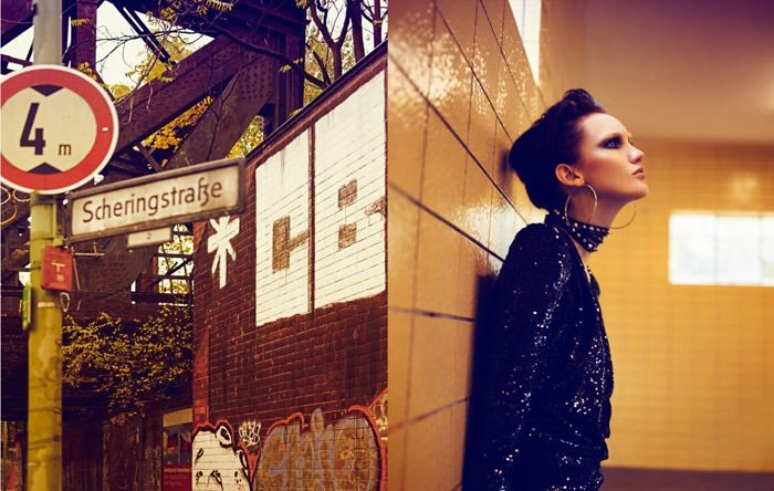 "Nina Reijnders photographed by Koray Birand in ""Berlin In Berlin"" for Marie Claire 6"