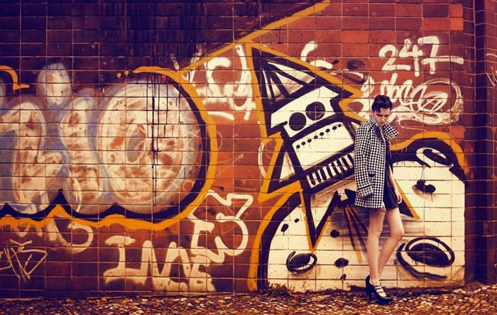 "Nina Reijnders photographed by Koray Birand in ""Berlin In Berlin"" for Marie Claire 7"