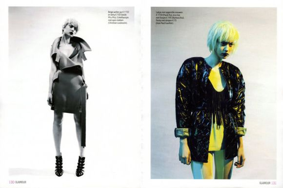 """Magdalena 'Olivka' Chrobot photographed by Barrie Hullegie in """"New Spirit"""" for Glamour Magazine 2"""