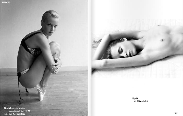 Dorith, Noah, Marloes & Olivka photographed by Yorick Nube for I Love Fake 1