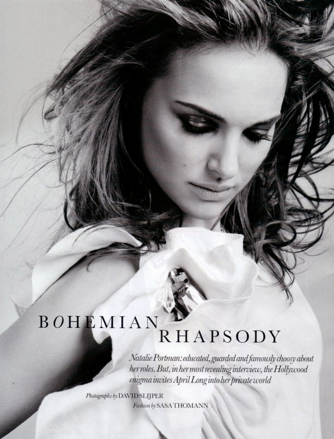 "Natalie Portman photographed by David Slijper in ""Bohemian Rhapsody"" for Elle U.K., February 2010 1"