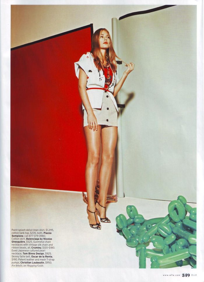 """Tori Praver photographed by Jacob Sutton in """"The Exhibitionist"""" for Elle, December 2009 5"""