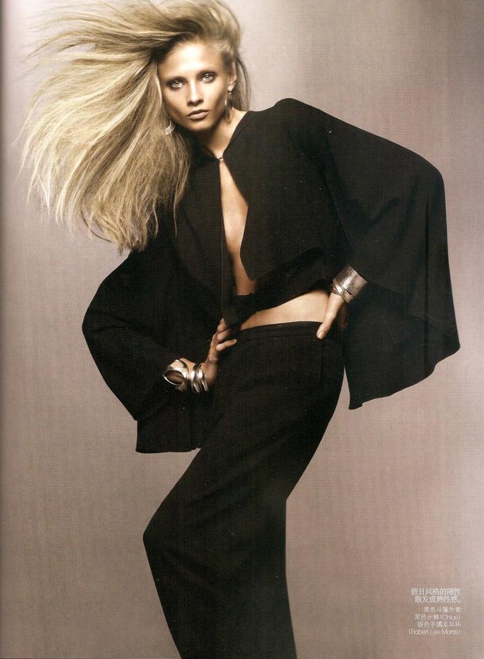 "Anna Selezneva photographed by Sølve Sundsbø in ""Revolutionary Blazer"" for Vogue China, March 2010 10"