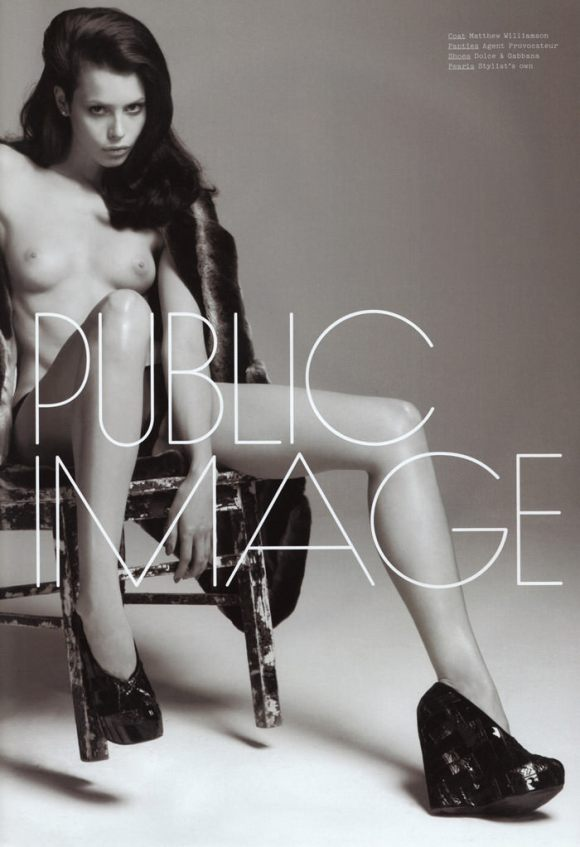 """Charlotte Kemp Muhl photographed by David Roemer in """"Public Image"""" for S Magazine #10 1"""