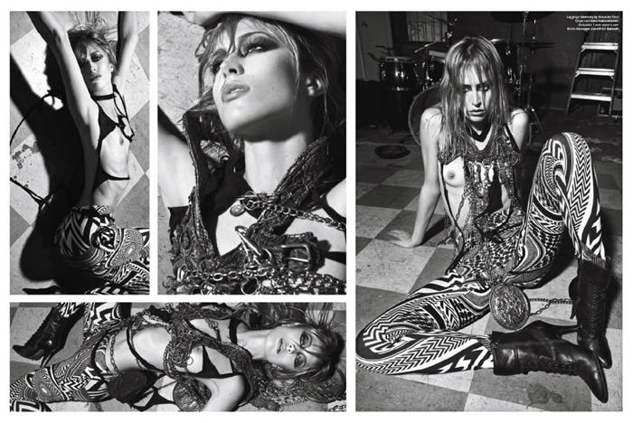 """Raquel Zimmermann photographed by Mario Sorrenti in """"High Performance"""" for V Magazine #64 5"""