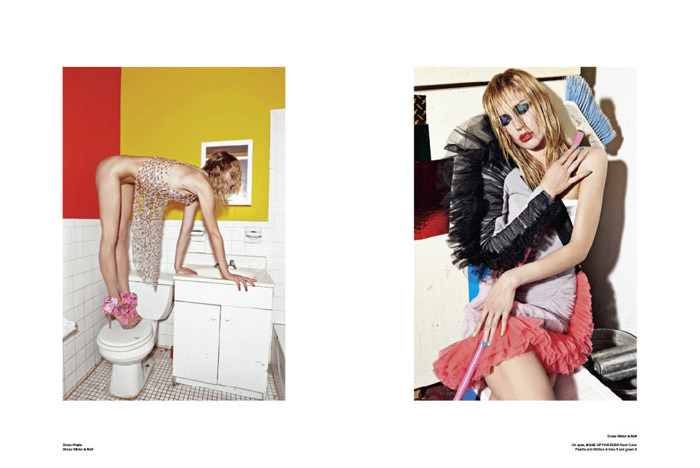 """Raquel Zimmermann photographed by Mario Sorrenti in """"High Performance"""" for V Magazine #64 6"""